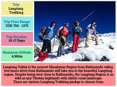 The Langtang Trekking is one of the most satisfying short treks available in the Himalayan region.