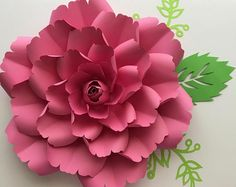 SVG Paper Flower template with Center, Digital Version, Original by Annie Rose, Cricut and Silhouette Ready #137