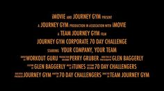 journey gym 70 Day Corporate Challenge by journey gym. In the work world of today many of us end up living the health lives we wish we weren't.  Regardless of how great the cultures are at the companies we work at, we tend to put our work health lives on the back burner.  We tend to sit for countless hours on end, we tend to snack throughout the whole day, we tend to not manage our stress levels well and our place of work becomes less than ideal for our health.