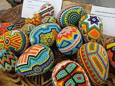 beaded eggs in mexico