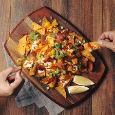 Recipe: Roasted Vegetable Grain Bowl with Crispy Chickpeas & Yogurt Sauce - Blue Apron Seitan, Cilantro, Quinoa, Vegetarian Recipes, Healthy Recipes, Healthy Food, Yummy Recipes, Dinner Recipes, Healthy Eating