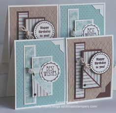 """This is a """"one sheet wonder"""" layout - without any wasted paper from a 6x6 inch square."""