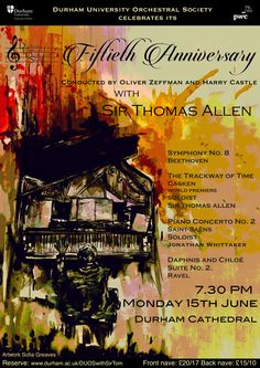 Durham University Orchestral Society 50th Anniversary Poster