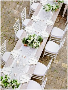 setting of a table for wedding