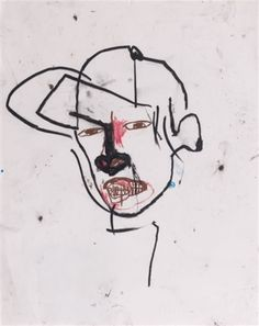 Basquiat Man 3 Sticker by denizozen - White - Jm Basquiat, Jean Michel Basquiat Art, Ink Illustrations, Illustration Art, Nouveau Realisme, Graffiti, Neo Expressionism, Andy Warhol, Creative Art