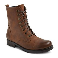 Women's Brit Combat Boots - Mossimo Supply Co. Brown 8.5