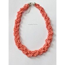Awesome Coral Necklace Jewelry Collection, Crochet Necklace, Coral, Awesome, Style, Fashion, Moda, Crochet Collar, La Mode
