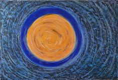 """Full Moon"" by Marlien Visagie Acrylic on Canvas 119,5cm x 79,5cm / 47"" x 31"" Full Moon, Abstract Art, Photo And Video, Canvas, Artist, Instagram, Harvest Moon, Tela, Artists"