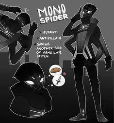 Drawing Marvel Mono Spider by rani-ki - Fantasy Character Design, Character Design Inspiration, Character Concept, Character Art, Spider Man's, Spider Costume, Superhero Design, Spider Verse, Marvel Art