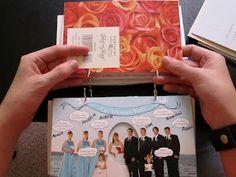 Cute idea! Wedding card book!