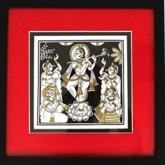 Captivating Krishna Phad Art - This ancient art form gets a modern makeover with contemporary strokes featuring Lord Krishna in his Divine state. Phad Painting, Indian Art Paintings, Lord Krishna, Online Gallery, Ancient Art, Contemporary, Modern, Art Forms, Folk Art