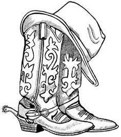 Cowboy Boots And Cowboy Hat Drawing Hd Shoe Clip Art Bottes de cow-boy et chapeau de cow-boy dessin hd chaussure clipart Clipart, Line Drawing, Drawing Sketches, Art Drawings, Cowboy Hat Drawing, Adult Coloring Pages, Coloring Books, Colouring, Art Encadrée