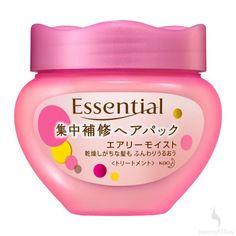 Essential Airy Moist Intensive Repair Hair Pack 200G #japangiftbay #essential #hairtreatment