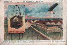 """Cuartel general de La Restinga, base de las operaciones - Ascensión del globo """"Reina Victoria"""" para explorar las posesiones enemigas."""