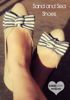 Sand and Sea Shoes (Goodwill to Anthropologie Refashion) - Bubbly Nature Creations