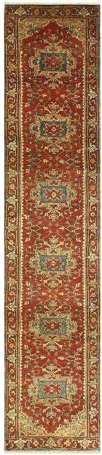 Bashian Rugs Indo Herez Hand-Knotted Wool Runner