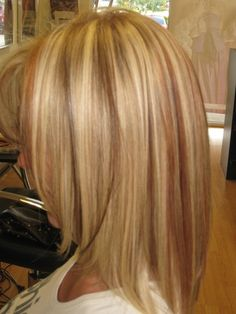 Highlights  Low-lights -- where was this picture when i was trying to find examples for when i got my hair done?!