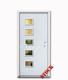 5 Lite Flush Steel Exterior Door 6-8 | Darpet Interior Doors for Chicago Builders