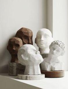 minimalist modern art sculpture home decor Skandinavisch Modern, Keramik Design, Sculptures Céramiques, Sculpture Clay, Ceramic Sculpture Figurative, Modern Art Sculpture, Geometric Sculpture, Pottery Sculpture, Sculpture Ideas
