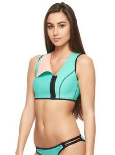 0d2620e1ba Neoprene improved with Spandex for more comfort. Perfecto Reversible Vest  With Laser Cut Back - BikiniGaGa.com