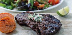 Kryddersmør lowres Pesto, Steak, Food Porn, Steaks, Beef, Treats