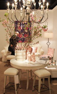 Spring 2012 HPFM Trends - @Hickory Chair: Suzanne Kasler's dreamy display <3