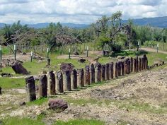 """Ruins of the astronomical Muisca temple at El Infiernito (""""the little hell"""") near Villa de Leyva, Colombia"""