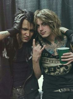 Ben Bruce and Ashley Purdy from Asking Alexandria and Black Veil Brides