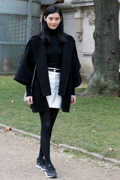 capes capes capes. #MingXi #offduty in Paris.