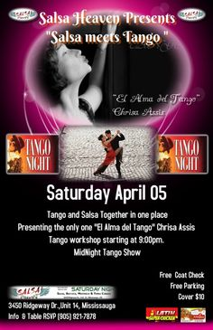 Tango and Salsa together in one night at Salsa Heaven Mississauga - TorontoDance.com