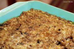 Breakfast Oatmeal Bake. Make it the night before and reheat if you're short on time.