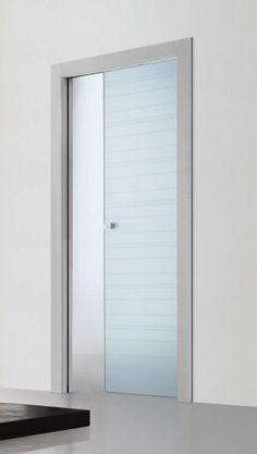 Risultati immagini per porte scorrevoli vetro cucina - Vetro porta interna ...