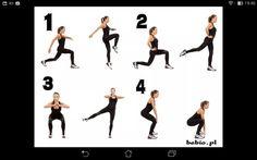 Pośladki (bottocks)  Każde ćwiczenie po 20 razy na każdą stronę. Całość powtórz 3 razy.  Repeat each exercise 20 times. Repeat all 3 times.