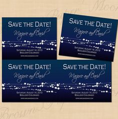 Star Streamers Editable Save the Date Card 5.25 by BrownPaperMoon, $10.00