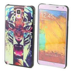 """ivencase Art Pattern Colorful Tiger B29 Design Hard Skin Case Cover for for Samsung Galaxy Note 3 III N9000 / N9005 + One Phone Sticker + One """" ivencase """" Anti-dust Plug Stopper"""