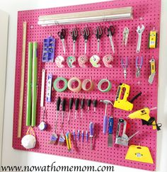 How to install a Pegboard in a craft room DIY project