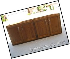 DIY Kitchen Island From used cabinets uppers Part 1