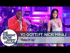 """Yo Gotti and Nicki Minaj hit the Tonight Show stage for a glitzy and highly censored performance of """"Rake It Up."""" Previously: Chris Brown ft. Yo Gotti, A Boogie & Kodak Black – Pills and Automobiles (Video) Hollywood Cinema, Hollywood Gossip, Archer Queen, Ft Nicki Minaj, Clash Of Clans Gems, Yo Gotti, Goblin King, Some Games, Tonight Show"""