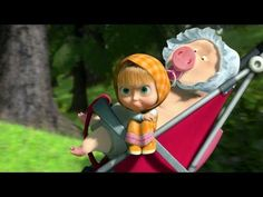russian animated tale of masha and the bear. you will love it. no russian needed to understand :)