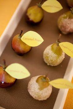 Caramel and Sugar-dipped Seckel Pears
