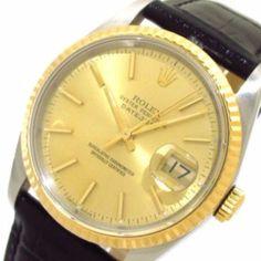 ROLEX The Datejust 16233 black Men's Wrist Watch X507891 #brandear #watch http://ift.tt/2B8IsJV