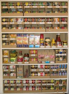 Rack and Roll- Ultimate food storage organizer.  DID YOU KNOW? A 4'x8'x'1' area will hold nearly 500 food items. by morgan