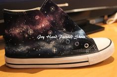 Galaxy Converse All Star Converse Shoes Hand Painted Shoes Hand