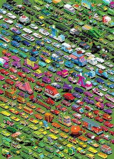 Eboy Le parking enchanté!?Les couleurs et le dégradé sont parfaits..vraiment génial