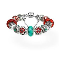 Pandora red and turquoise colour combination. Will use this :)