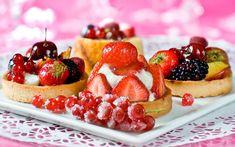 Delicious Dessert Strawberry Wallpaper
