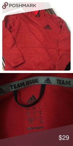b41508c0b7271 Red adidas hoodie size large men s Large adidas hoodie with front pocket  and black drawstring NWOT adidas Other