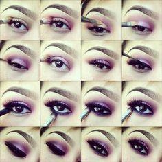 purple white cut crease smokey eye - 20 TUTORIALS FOR SMOKEY EYES