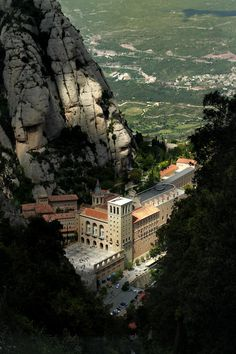 Montserrat Monastery - Santa Maria de Montserrat is a Benedictine abbey located on the mountain of Montserrat, in Monistrol de Montserrat, in Catalonia, Spain.
