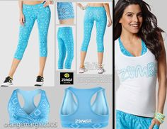 Vbra Top elitezwear Burn Out Vtee Zumba® 3pc Set!~black Denim Stretch Pants